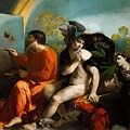 Jupiter Mercury And Virtue 1524 by Dossi Dosso