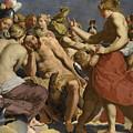Jupiter Rebuked By Venus On Mount Olympus  by Workshop of Abraham Janssens