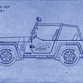 Jurassic Park Jeep Blueprint by Tommy Anderson
