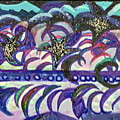Just A Little Night Mosaic by Anne-Elizabeth Whiteway
