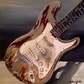 Just Broken In- Old Guitar by Johnnie Stanfield