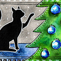 Just Counting Balls - Christmas Cat by Dora Hathazi Mendes