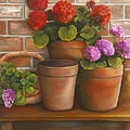 Just Geraniums by Marlene Book