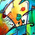 Just Having Fun Original Pop Art Abstract Painting By Madart by Megan Duncanson