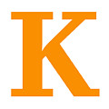 K In Tangerine Typewriter Style by Custom Home Fashions