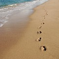 Kaanapali Footprints In The Sand by Christine Owens