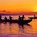 Maui Hawaii Kaanapali Outrigger Sunset by Jim Cazel