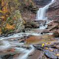 Kaaterskill Falls Autumn Portrait by Bill Wakeley