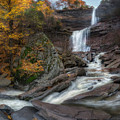 Kaaterskill Falls Autumn Square by Bill Wakeley