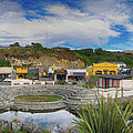Kaitoura Nz Panorama by C H Apperson