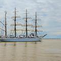 Kaiwo Maru On The Way To The Open Ocean. by Viktor Birkus