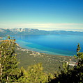 Lake Tahoe From The Top Of Heavenly Gondola by Joyce Dickens