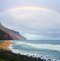 Kalalau Beach Rainbow by Kevin Smith