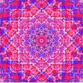 kaleido-Rubiat-3D Sq 53d Kwilt by Terry Anderson