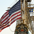 Kalmar Nyckel American Flag by Alice Gipson