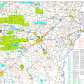 Kamkam Arkansas Highway Map  by Kameron Sharpe