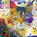 Kandinsky Cat by Yury Malkov