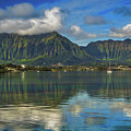 Kaneohe Bay Oahu Hawaii by Mitch Shindelbower