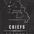 Kansas City Chiefs Art - Nfl Football Wall Print by Damon Gray