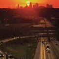 Kansas City I 70 Sunset by Don Wolf