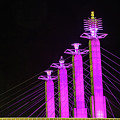 Kansas City Pylons In Pink by Steven Bateson