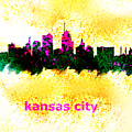 Kansas City Skyline 1 by Enki Art