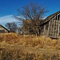 Kansas Farmhouse And Barn by Greg Rud