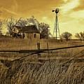 Kansas Pioneer Homestead On The Plains by Greg Rud