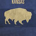 Kansas State Facts Minimalist Movie Poster Art by Design Turnpike