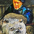 Kaptain Van Janned And His Trusty Bear Vincent by GretchenArt FineArt