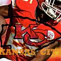 Kareem Hunt, Kansas City Chiefs by Thomas Pollart