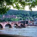 Karl Theodor Bridge And Heidelberg Castle  by Bob Phillips