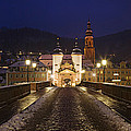 Karl Theodor Bridge With The Castle by Panoramic Images