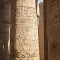 Karnak Pillar Carvings by Sophie McAulay