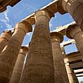 Great Hypostyle Hall In Karnak Temple  by Aivar Mikko