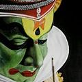 kATHAKALI PAINTING REALISTIC by Sanooj Kakkayangad