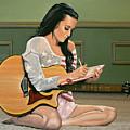 Katy Perry Painting by Paul Meijering