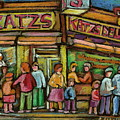 Katzs Delicatessan New York by Carole Spandau