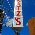 Katz's Ny Deli Sign by Candace Garcia