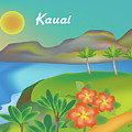 Kauai Hawaii Horizontal Scene by Karen Young