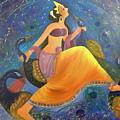 Kaushiki Dance With Peacock by Rajeev Raj