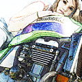 Kawasaki Zrx With Love by James Granberry