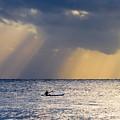 Kayak At Dawn by Mike  Dawson