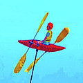 Kayak Guy On A Stick by Joseph Coulombe