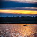 Kayak Sunset by Edward Peterson