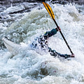 Kayaker In Action At Pipeline Rapids In James River 5956c by Doug Berry