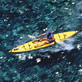 Kayaker Over Coral Reef by Ron Dahlquist - Printscapes