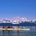 Kayakers In Alaska by Sally Weigand