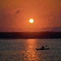 Kayaking At Sunset by David Gordon