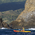 Kayaking In Molokai by Dave Fleetham - Printscapes